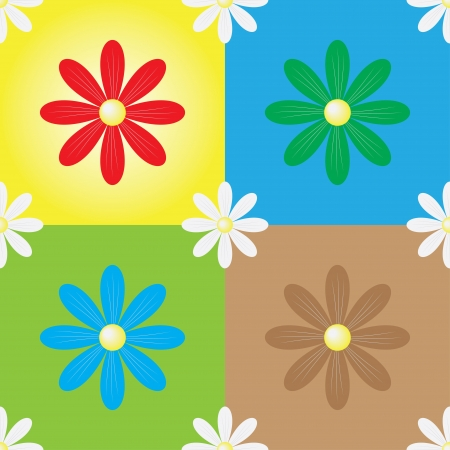 daisy seamless colorful background photo