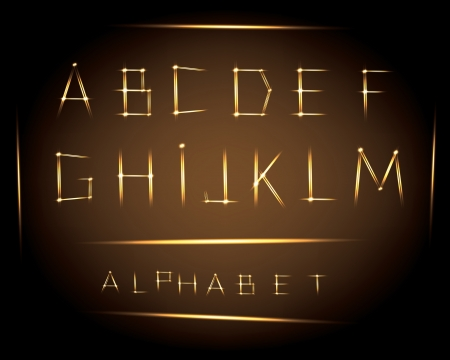 alphabet  bright lines  part one   Vector