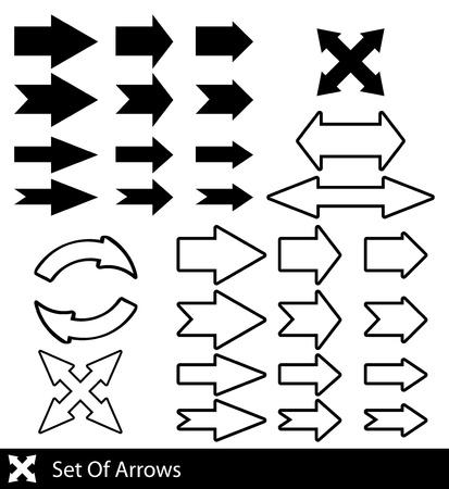 set of black arrows   Stock Vector - 17206461