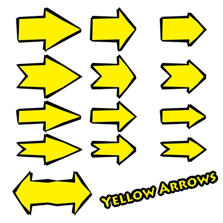 set of yellow arrows Stock Vector - 17206457