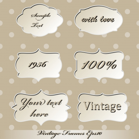 set of vintage frames   vector, eps10  Vector
