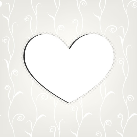 carved heart  white background   Stock Vector - 17206521