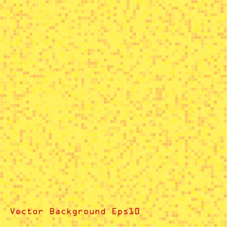 abstract pixel yellow background  seamless   Vector