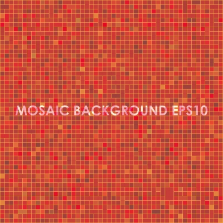 mosaic background  red Stock Vector - 17206477