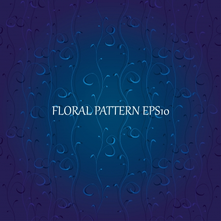 floral blue seamless background Stock Vector - 17206497