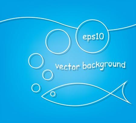 blue marine background Stock Vector - 17206465