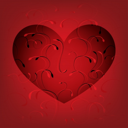 red heart for valentines day. vector eps10 Stock Vector - 17316221
