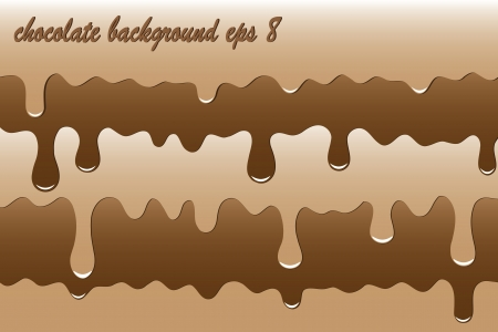 melted chocolate. tasty background eps8 Vector