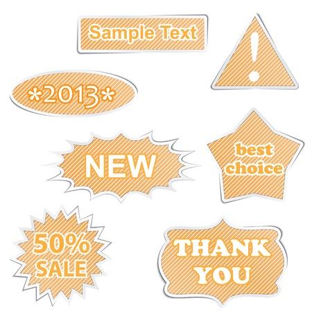 set of paper labels. vector eps10 Stock Vector - 17300760