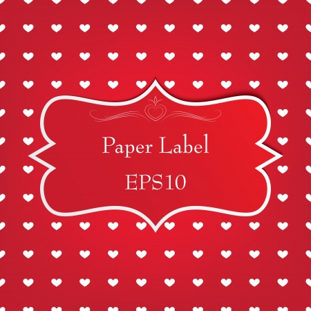 red paper retro label. vector eps10 Stock Vector - 17316189
