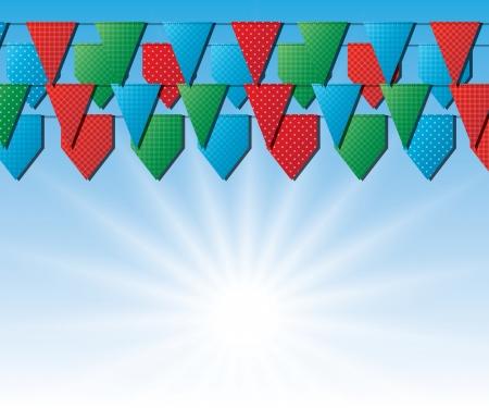 hanging flags. Vector eps10 Stock Vector - 17316170