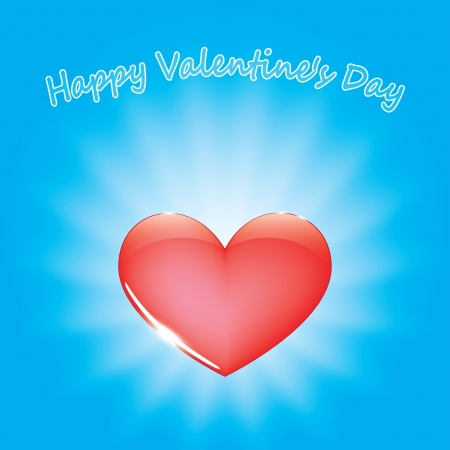 red hearts on blue background. greeting card valentine's day. eps10 Vector