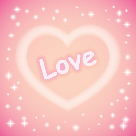 heart. tender pink background eps10 Stock Vector - 17300761