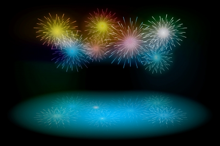 fireworks. vector background Stock Vector - 17607926