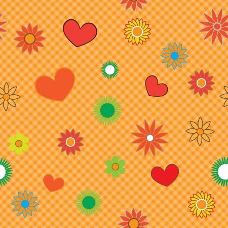compendium: flower pattern for scrapbook. Illustration