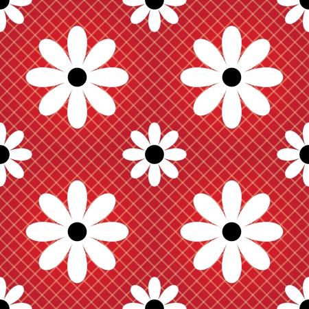 daisy seamless color background (vector) Stock Vector - 17607954