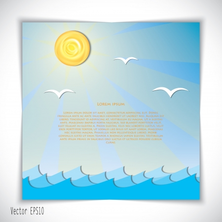 sea landscape. Stock Vector - 17914829