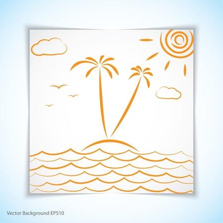 vacation. illustration. Illustration