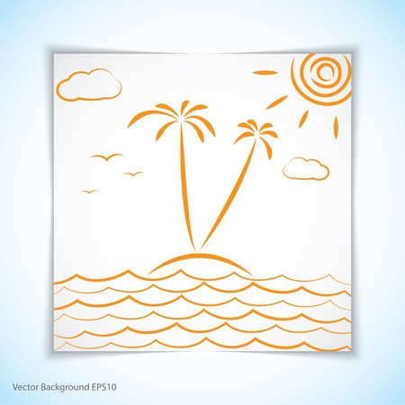 vacation. illustration. Stock Vector - 17914791