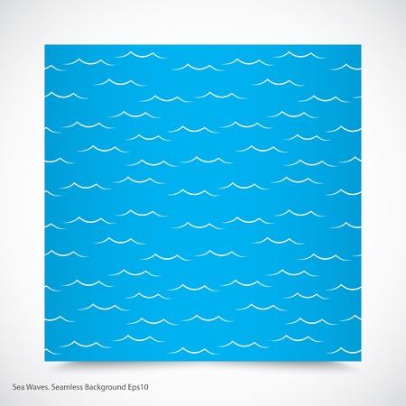 ocean waves: sea waves. seamless pattern. Illustration