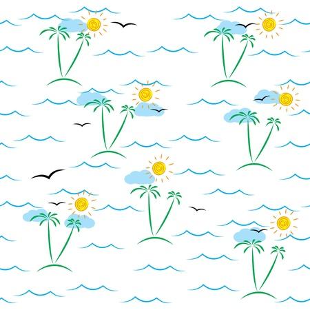 marine seamless pattern. Stock Vector - 17914810