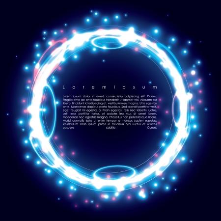 fantasy world: blue ring. frame background.