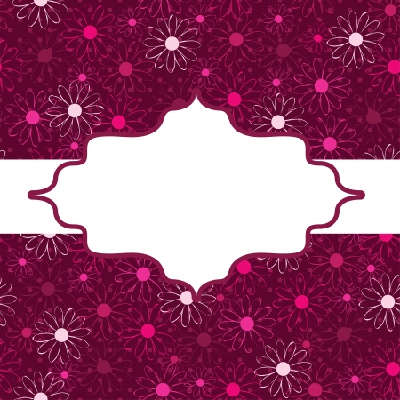 frame. flower decoration. Vector