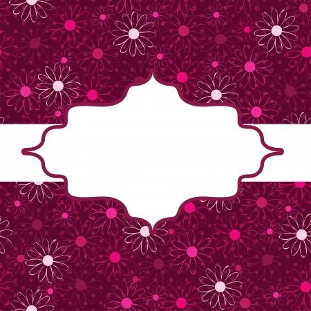 cartoon menu: frame. flower decoration. Illustration