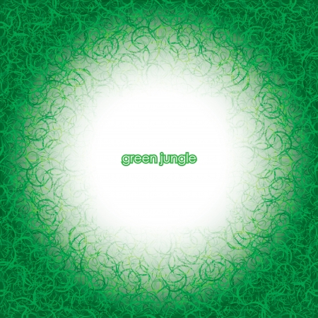 green jangle. misty abstract background. Stock Vector - 17915905