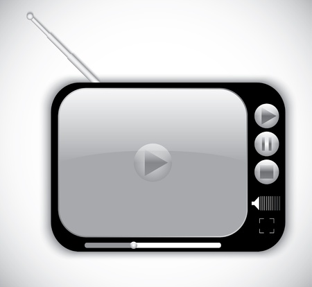digital media player. vector eps10 Vector