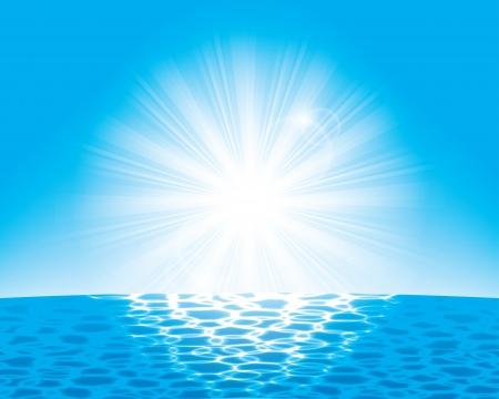 the sun over the sea. Stock Vector - 17915885
