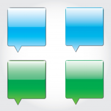 sms blank buttons for applications.   Vector