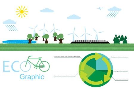 eco afbeelding. beeld van de ecologische omgeving. Stock Illustratie