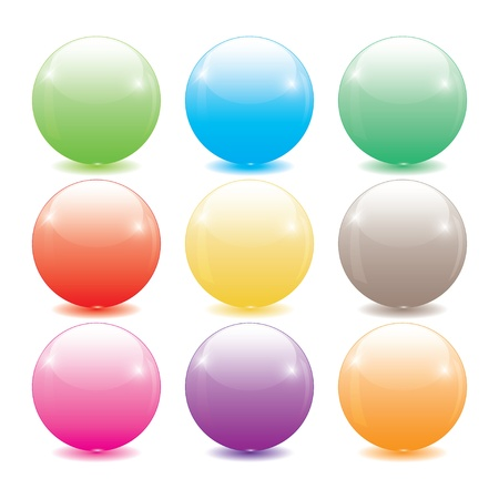 set of colored glass balls for web.  Stock Vector - 18006750