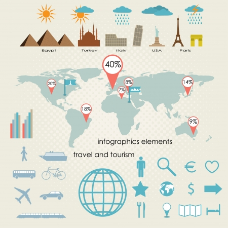 travel and tourism. infographics  element?. vector set eps8 Vector