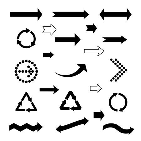 set of black arrows. eps8 Illustration