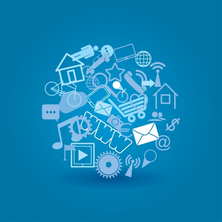 cloud media. social media elements. vector eps10