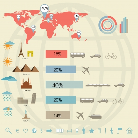 travel and tourism. infographics elements. vector eps8