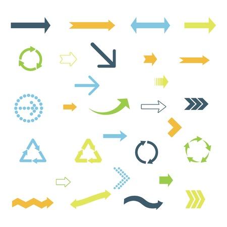 flecha derecha: conjunto de flechas de colores. Vectores