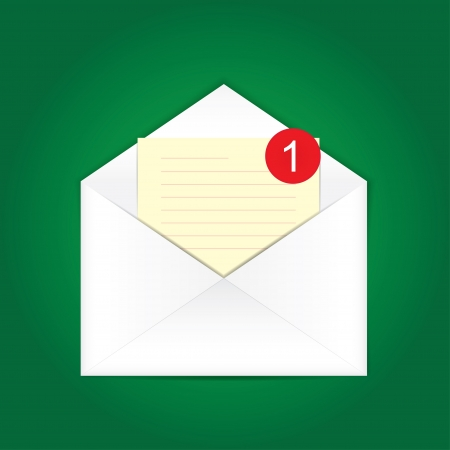 chatbox: you have a new message. envelope. vector eps10 Illustration
