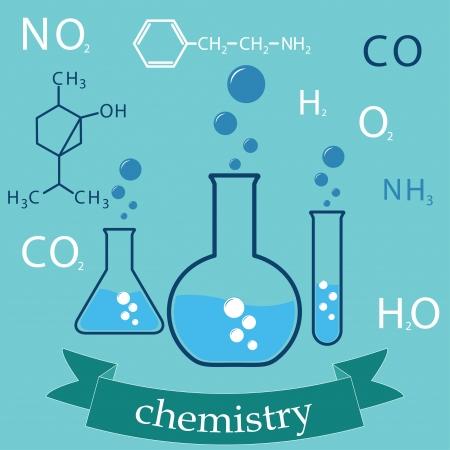 soumis: sous réserve de la chimie. couverture de fond Illustration