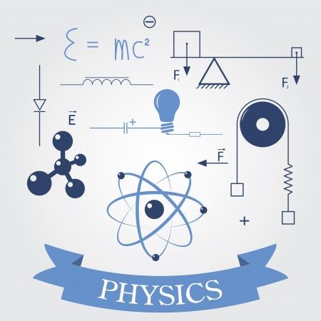 subject: symbols of physics Illustration