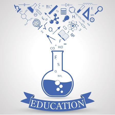 science lab: knowledge from tube. concept of learning