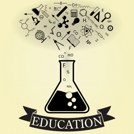 abstract concept of education. vector. eps10 Vector