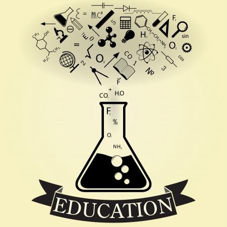 abstract concept van het onderwijs. vector. eps10