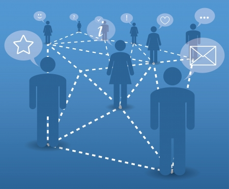 information management: abstract concept. modern communication in the network