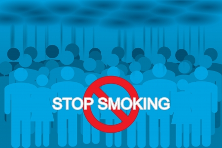 hazard damage: smokers in the cigarette smoke. stop smoking