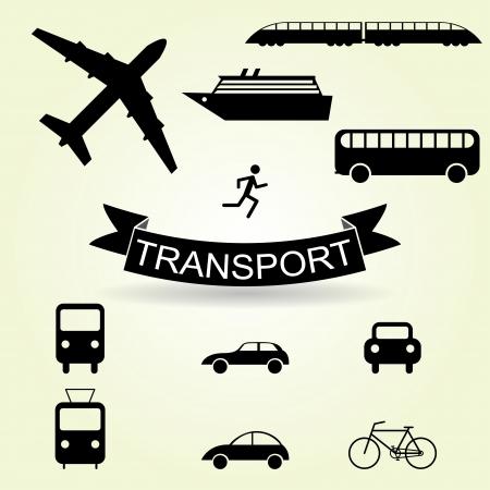 streetcar: conjunto de iconos de transporte p�blico para la infograf�a.