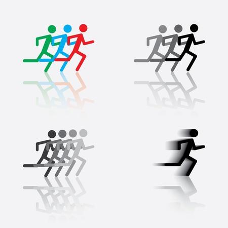 icoon van de lopende man. Stock Illustratie