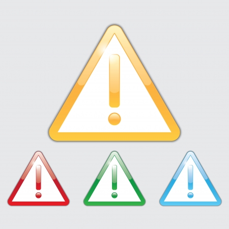 icons of warning sign for web and app. Vector set eps10 Stock Vector - 18593848